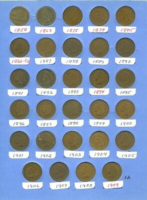 ***Set of 29*** Different Indian and Flying Eagle Cents