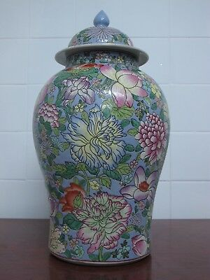 Chinese Famille Rose Hundreds of Flowers Ginger Pot