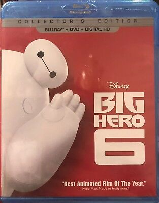 Disney Big Hero 6(Blu-Ray+Dvd+Digital Hd)Collectors Edition New