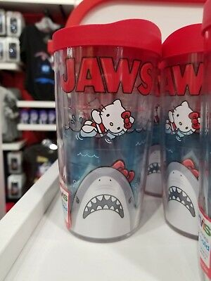 New Sanrio Hello Kitty and Jaws Large Tumbler Jaws Hello Kitty Travel Cup RARE