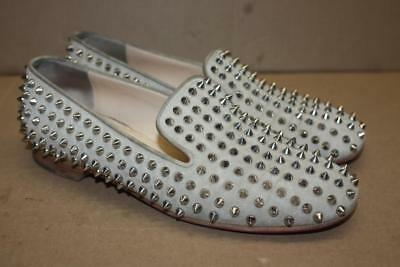 f36d6b5e6940 Christian Louboutin Venetian Loafers Spikes Brown Beige Suede Shoes EUR 39