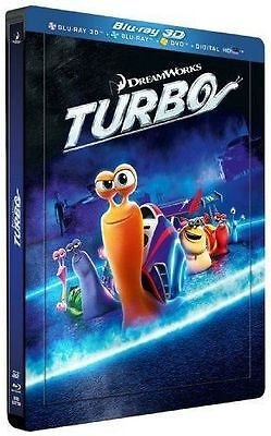 Blu Ray 3D + 2D + DVD : Turbo - Ed Steelbook - NEUF