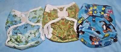 Bummis diaper covers and wiggleworm. Size Medium. Lot of 3