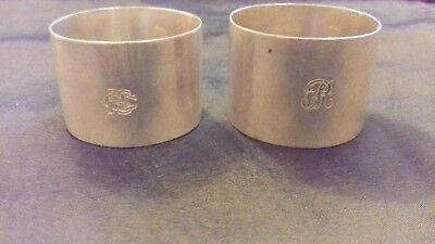 Antique Elkington silver plated napkin rings - 2 pieces