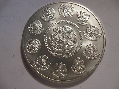2003 2 oz Silver Libertad 2 onzas Coin Mexico Low Mintage  2 of 3 NO RESERVE