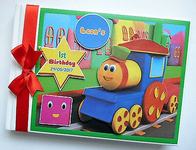 Bob The Train Personalised 1St/first Birthday Guest Book - Any Design