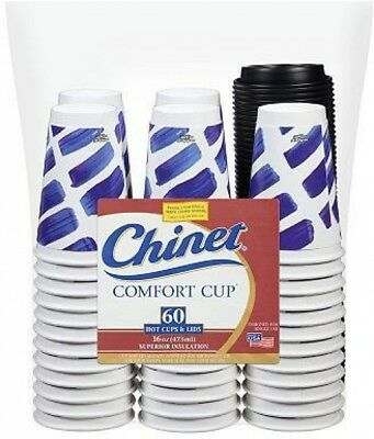 Chinet Comfort Cup 16 Oz. Hot Cups and Lids (60 Ct.)