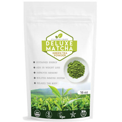 Matcha Outlet Deluxe Japanese Green Tea Powder 16oz