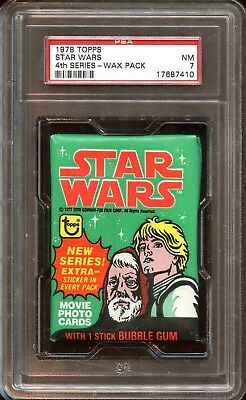 1978 Topps STAR WARS Wax Pack 4th Series PSA 7 NM NICE!!