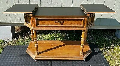 Vtg Thomasville Buffet Folding Server Table One Drawer Excellent Original Tag