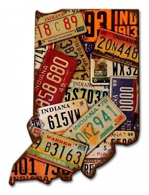 """ Indiana License Plates "" USA Vintage Metal Sign Garage Man Cave Rustic Decor"