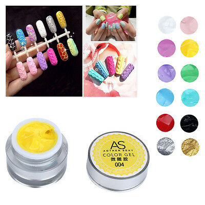 15ml Manicure 3D UV Sculpture Carved Gel Nail Art Tip Painting Decor Nail ffdd