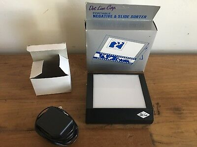 Dot Line Corp Portable Negative & Slide Sorter With Power Pack PRISTINE