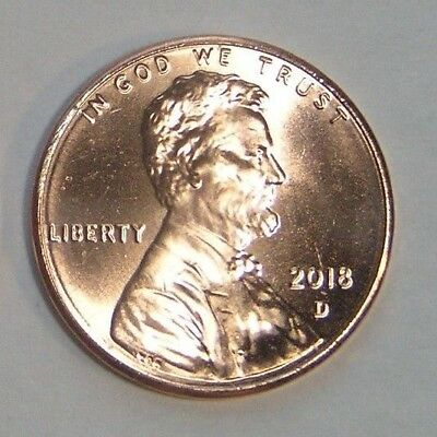 2018 D  Lincoln .cent Shield Penny