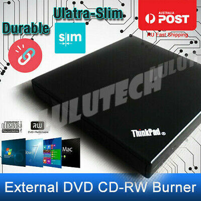 USB External DVD CD RW Disc Writer Burner Player Drive For PC Laptop Win 7/8/10