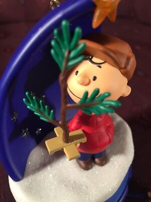 A Sign of the Season 2016 Hallmark Ornament Charlie Brown Christmas Tree PEANUTS