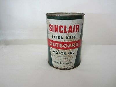 Vintage Sinclair Extra Duty Outboard 1 Quart Motor Oil Can