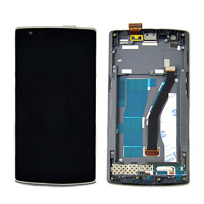 Lcd Display Slide Touch Screen With Frame Assembled One Plus One +1