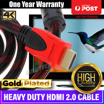 Nylon HDMI Cable v2.0 Ultra HD 4K 2160p 1080p 3D High Speed Ethernet ARC HEC