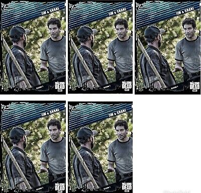 5x FALLOUT BLUE SHANE WALSH AND JIM Topps Walking Dead Card Trader Digital Card