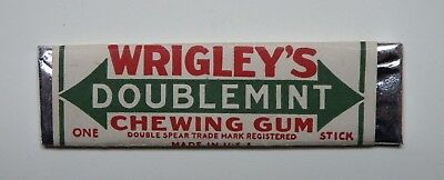 Vintage Wrigley's Doublemint Chewing Gum Stick w  White Wrapper