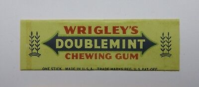 Vintage Wrigley's Doublemint Chewing Gum Wrapper Odd Color