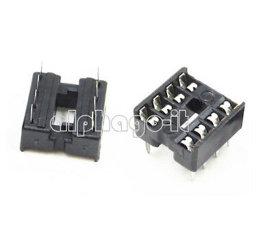 20Pcs 8pin DIP IC Socket Adaptor Solder Type Socket Pitch Dual Wipe Contact