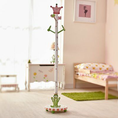 NEW Girls Coat Stand Princess and Frog by Teamson Fantasy Fields Kids Bedroom