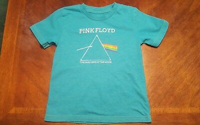 Pink Floyd Size 5T T-Shirt Turquoise Dark Side Of The Moon GUC!
