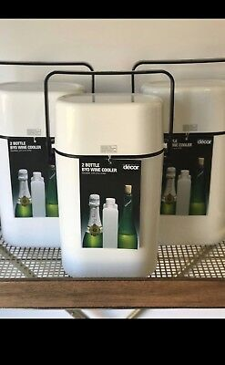 BNWT Decor White 2 Bottle BYO Wine Cooler Carrier