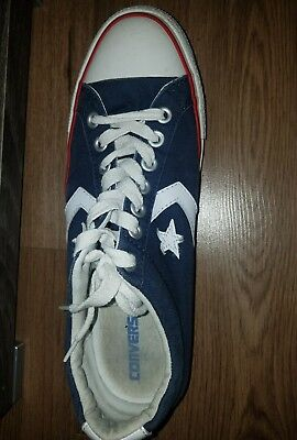 Converse All Star Navy Blue Stared Sneaker Size 12 Women's Mens 10 ONE SHOE ONLY