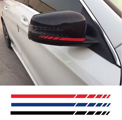 Mercedes Benz AMG Red Side Rear View Mirror Stripes Decal Sticker A45 CLA Pair