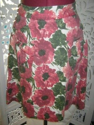 Vintage 'mint' Bohemien Hippy Floral Skirt, 2 Pockets