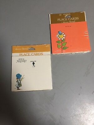 HOLLY HOBBIE Vintage Place Cards And A Retro Set  New Sealed  American Greetings