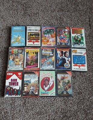 Commodore 64 : 14 Original cassette games with many classic games c64 vintage