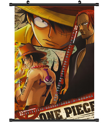 B4014 One Piece Luffy Ace anime manga Wallscroll Stoffposter 25x35cm