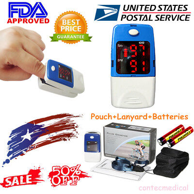 CONTEC FDA Finger Tip Pulse Oximeter SpO2 Heart Rate Monitor Blood Oxygen meter