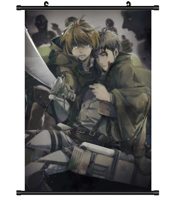 B4174 Attack on Titan anime manga Wallscroll Stoffposter 25x35cm