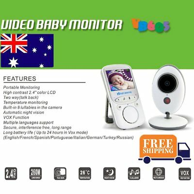 VB605 Wireless Digital LCD Color Baby Monitor Audio Video Night Vision Camera FK