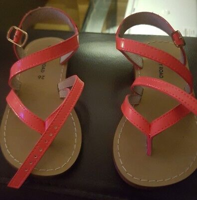 Country Road Toddler Sandals Coral Size 26 Leather