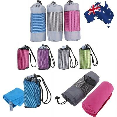 Microfiber Towel Sports Gym Bath Quick Dry Travel Swimming Camping Beach Drying