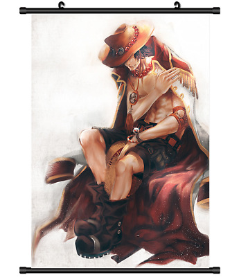 B4181 One Piece Portgas D Ace anime manga Wallscroll Stoffposter 25x35cm