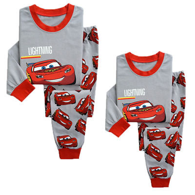 Kids Boy Girl Lightning McQueen Pajamas Sleepwear Nightwear Pyjamas Clothes Set