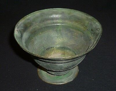 ROMAN Ancient Bronze CUP / BOWL Circa 200-400 AD                    -5867