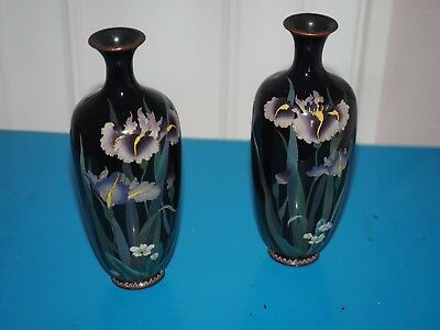Japanese Cloisonne 32cm high with damage