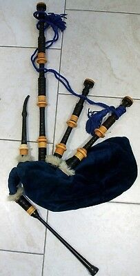 Vintage Set of Military Issued R.G Hardie Bagpipes with Blackwood Drones