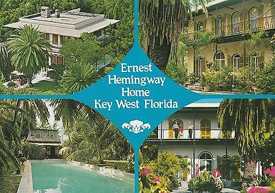 Key West Florida, Ernest Hemingway Home, Unposted postcard; 0238