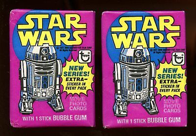 (2) 1978 Topps STAR WARS Wax Pack 3rd Series LOT