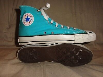 Vintage Converse Blue High Tops Made In Usa Size 11.5 1980 Extra Stitch