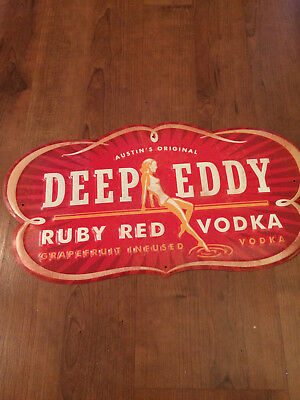 New Deep Eddy Ruby Red Vodka Metal Tacker Tin Wall Sign Free Shipping